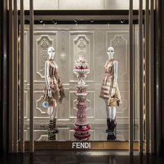 WEBSTA @ fendi - The Sweet Dream's pastel pastry-like sculptures created in collaboration with artist Anke Eilergerhard have taken over Fendi boutique windows across the globe. Stop by to see them in person and shop the #FendiSS17 collection.