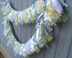 Newborn Baby Boy Fabric Garland, Ribbon Banner, Boy Banner, Boys Bedroom Decor, Nursery Decoration, Baby Shower Decoration, Baby Boys Room. $60.00, via Etsy.