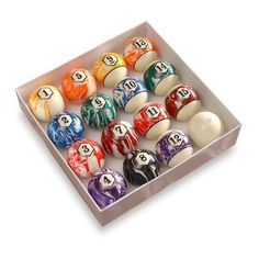 The Level Best Swirl Pool Ball Set