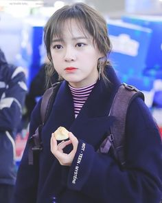 "170128 - Kim Sejeong @ Incheon airport to Sumatra, Indonesia for ""Law of the Jungle"" (cr. Kim Chungha, Kim Bum, South Korean Girls, Korean Girl Groups, Virgo, Chuu Loona, Jellyfish Entertainment, Jeon Somi, Cosmic Girls"
