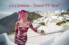 La carmina - travel & asia pop culture tv show clips, television hosting reel, cosplay, jpop tokyo japan Santorini Vacation, Santorini Greece, Underground Shoes, Goth Subculture, Dark Beauty Magazine, Goth Model, Travel Channel, Cover Model, Fashion Line