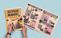 How a grocery catalogue inspired Baggu's retro design - Newspaper Club Newspaper Design, Newspaper Format, Galaxy Book, Catalog Design, Publication Design, Print Layout, Printed Pages, Graphic Design Print, Book Projects