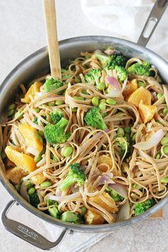 Orange Broccoli Noodle Bowls - Cook Nourish Bliss replace noodles with soba or gluten free noodles