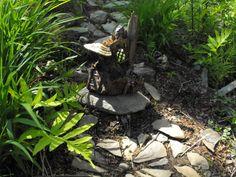 VIEW THREE Wee Folk 'log home' Fantasy garden decor, Fairy gardens