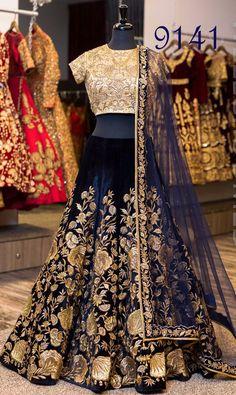 Designer sarees ,indian sari ,bollywood saris and lehenga choli sets. punjabi suits patiala salwars sets bridal lehenga and sarees. lehenga made in net with net lined blouse full long dupatta. Indian Wedding Outfits, Bridal Outfits, Indian Outfits, Bridal Dresses, Velvet Wedding Dresses, Indian Wedding Fashion, Eid Outfits, Indian Fashion Trends, Eid Dresses