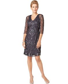 Patra Dress And Jacket Sleeveless Sequin Beaded