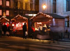 Christmas shoppers dashing around for gifts on the streets of Belgium.