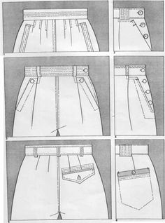 Wool embroidery Decorative stitching on darts Cross stitch over seam Oversewn pockets Suede belt and pocket Suede piping on pockets Fringe Flat Drawings, Wool Embroidery, Technical Drawing, Summer Kids, Body Shapes, Ideias Fashion, What To Wear, Sewing Patterns, Women Wear