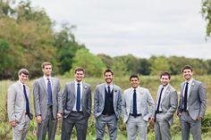 groomsmen in gray | Flora and Fauna #wedding