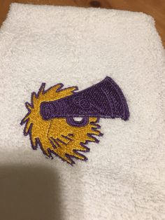 A personal favorite from my Etsy shop https://www.etsy.com/listing/575319519/cheerleaderpep-squad-towel