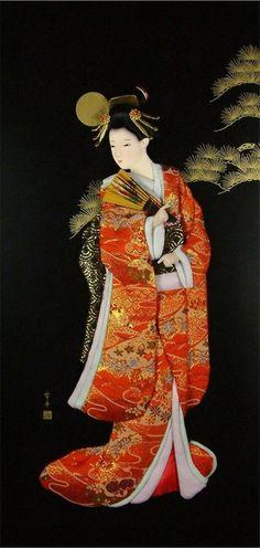 Geisha painting                                                                                                                                                                                 More