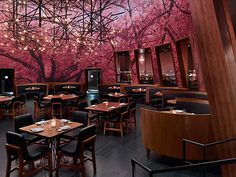 Kumi Japanese Restaurant + Bar by Chef Akira Back at Mandalay Bay in Las Vegas features a modern Japanese menu with a Korean-American twist. Japanese Restaurant Interior, Japanese Interior, Chinese Restaurant, Cafe Restaurant, Mandalay Bay Hotel, Japanese Bar, Japanese Design, Asian Restaurants, Traditional Interior