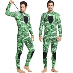 62.50$  Buy now - 3mm Men Neoprene Diving suit Wetsuit Warm Long Sleeves Swimsuits High Quality Thicker Camouflage Full Body Surfing Wear Male  #buyininternet