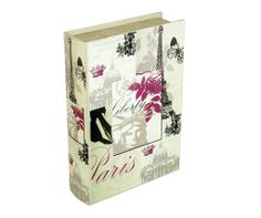 Storage Book - Paris   The Paris Storage Book is an attractive storage alternative. A magnetic storage container designed to look like an fashionable book with a variety of stylish covers, perfect for displaying on coffee tables, shelves or sideboards.   Height : 30cm Width : 21.5cm Depth : 7cm