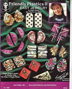 Friendly Plastics II Easy Jewelry Pattern Book Suzanne McNeill Design Originals 2093 by grammysyarngarden on Etsy