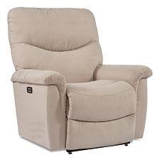 James PowerReclineXR Reclina-Rocker® Recliner by La-Z-Boy Swivel Recliner, La Z Boy, Support Pillows, Chair Backs, Power Recliners, Reclining Sofa, Foot Rest, Seat Cushions, Living Room