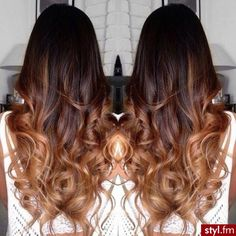 Pretty long ombre hair