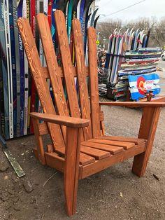 Our XXL oversized Adirondack chair. Measures 68x52x42. #coloradical #mountains #mountainlife #mountainhigh #telluride #steamboatsprings #vail #breckenridge #beavercreek #aspen #aspencolorado #aspensnowmass #keystone #skiing #skichair #denver #deckchair #denverlife #denverliving #homedecor #outdoorfurniture #skiing