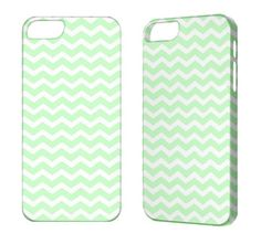 iPhone 5 Case Cool Green Chevron iPhone 4 Case Cool Green Chevron iPhone 4S 3G 3GS iPod Touch 5 4G Case Cool Green Chevron iPhone Cover. $17.50, via Etsy.