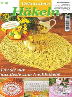 "Photo from album ""Dekoratives Hakeln on Yandex. Crochet Symbols, Crochet Chart, Thread Crochet, Filet Crochet, Crochet Stitches, Knit Crochet, Crochet Patterns, Crochet Table Runner, Crochet Tablecloth"