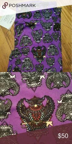 LuLaRoe OS Owls OS leggings. Purple with Mosaic Owls. Never worn. LuLaRoe Pants Leggings