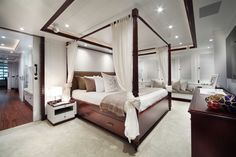 The Owner's Suite of the CRN 43m M/Y Lady Trudy.