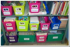 Now if I can just get someone to buy me boatloads of bins so I can organize my classroom library like this. Anyone?