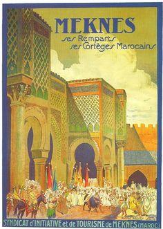 Poster Vintage de Turismo - Taringa! - Morocco