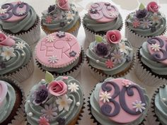 I seem to be in a pink-y, lilac-y purple-y green-y phase at the moment! Pretty Cupcakes for Becky - Happy Birthday To You! 30th Birthday Cupcakes, Friends Birthday Cake, Funny Birthday Cakes, Unique Birthday Cakes, Novelty Birthday Cakes, Funny Cake, Birthday Ideas, 21st Birthday, Mothers Day Cupcakes