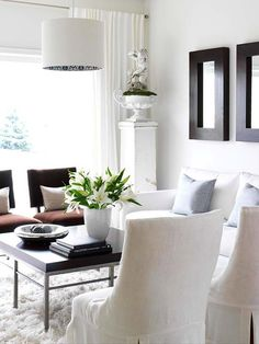 Charming Living Room   White Curtains And Light Gray Walls. Maybe With Glossy Gray. Decorating  Small Spaces