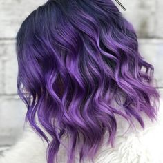 Gesunde vegane sofortige Blaubeereiscreme mit zwei Bestandteilen 63 Lastest Hair Color Design For Shoulder Length Hair - Page 34 of 63 Hair Lilac Hair, Hair Color Purple, Hair Dye Colors, Cool Hair Color, Purple Lilac, Purple Ombre Hair Short, Dark Purple, Dyed Hair Purple, Black To Purple Hair