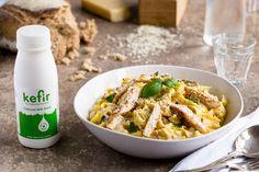 Skinny Chicken Fettuccine with Alfredo Kefir Sauce