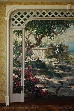 рисунок в спальне пейзаж