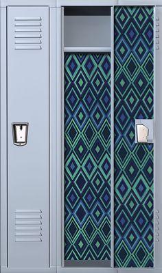 Woven Diamonds School Locker Wallpaper