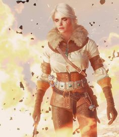 Ciri in The Witcher III: Wild Hunt - Winter Gear