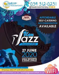 Book your accommodation for the Ugu Jazz Festival on Sat 27 June.