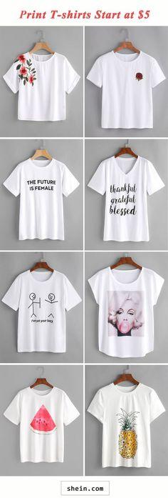 Print T-shirts start at $5!
