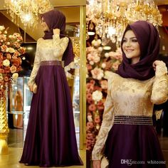 Evening Dress Online Shop Elegant Muslim Long Sleeves Women Evening Formal…