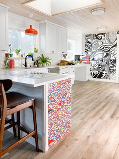 Legos Played a Major Part in This White Kitchen's Revamp