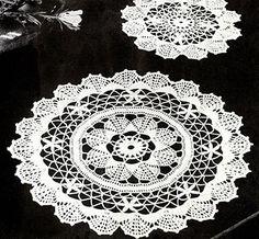 Fan Doilies crochet pattern originally published in Crochet For Your Home, Book 67. #crochet #doilypatterns