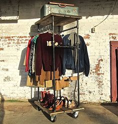 Industrial Garment Rack- Tall Boy. $599.00, via Etsy.