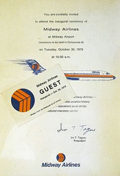 Midway Airlines First Flight