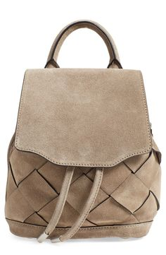 Woven strips of buttery-soft suede enhance the rich texture of this rag & bone backpack. Perfect for carrying the day's essentials!