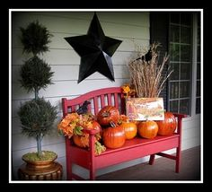 Pretty porch and easily converted from season to season...