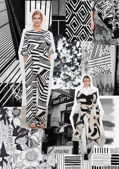 Style Council: Black and White Mise En Page Portfolio Mode, Fashion Portfolio Layout, Fashion Design Sketchbook, Fashion Sketches, Fashion Collage, Fashion Prints, Fashion Themes, Mode Inspiration, White Fashion