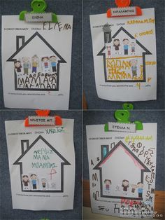 My family collage Kindergarten Family Unit, Preschool Family Theme, Preschool Arts And Crafts, Family Crafts, Preschool Activities, Family Tree For Kids, Family Day, Classroom Art Projects, Art Classroom