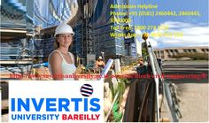 B.Tech Civil Engineering – Check our B.Tech Civil Engineering course details, eligibility criteria, fees and admission process of B.Tech Civil Engineering at Invertis University. Keyword:-