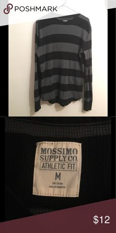 Mossimo Supply Co. Striped Long Sleeve Shirt Dark grey, navy blue, and black striped long sleeve shirt. 100% cotton. In good condition. Mossimo Supply Co Shirts Tees - Long Sleeve