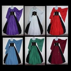 LOVE! Especially the purple!! Dagget sleeve cincher costume by loriann37 on etsy $199.99