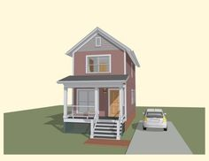 Traditional Exterior - Front Elevation Plan #79-277 - Houseplans.com